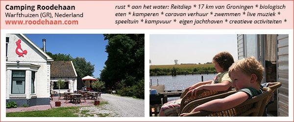 bijzondere camping, camping aan het water, camping bij Groningen