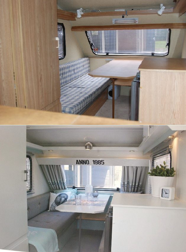 Strak kippetje caravanity happy campers lifestyle Diy caravan interior design ideas