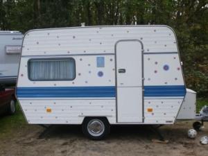 Caravan buitenkant stickers