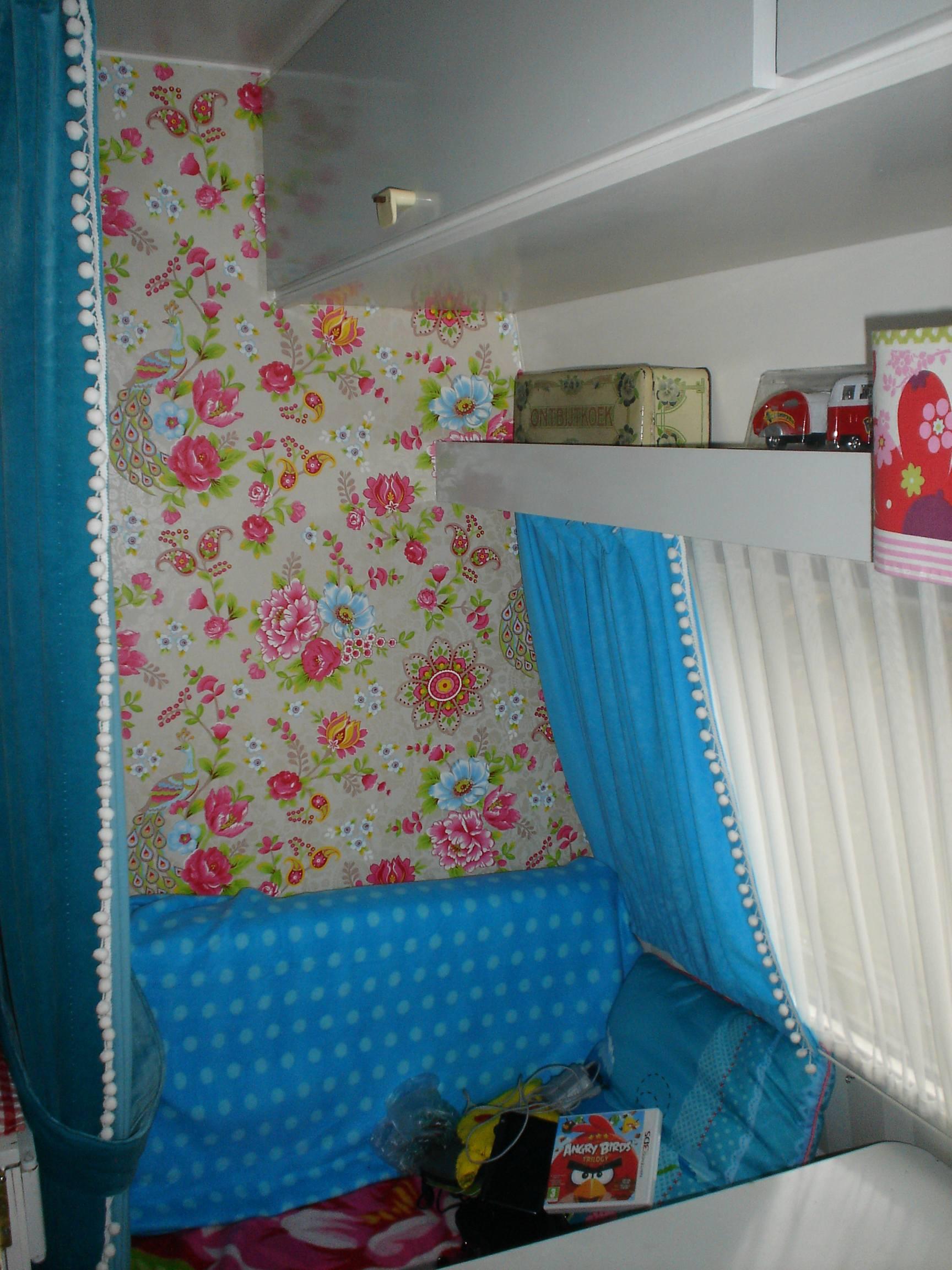 Pompoms aan de gordijnen - Caravanity | happy campers lifestyle