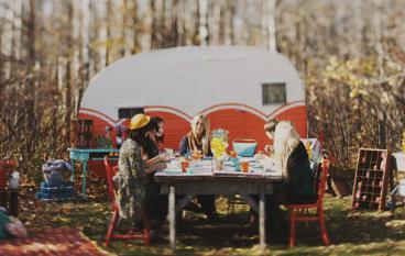 vrijgezellenfeestje, camping