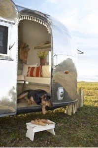 airstream close up beach