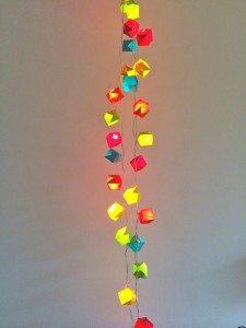 origami licht slinger