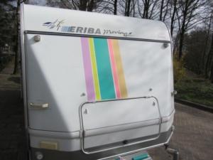 buitenkant caravan masking tape 11