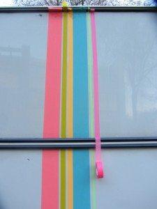buitenkant caravan masking tape 7