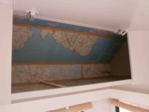 landkaart in kastjes