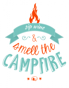 Sticker - Sip wine and smell the campfire